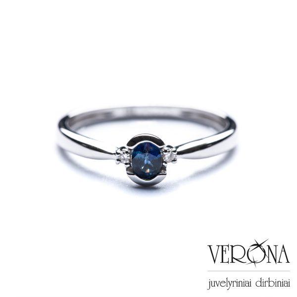 Žiedai su brangakmeniais 206860