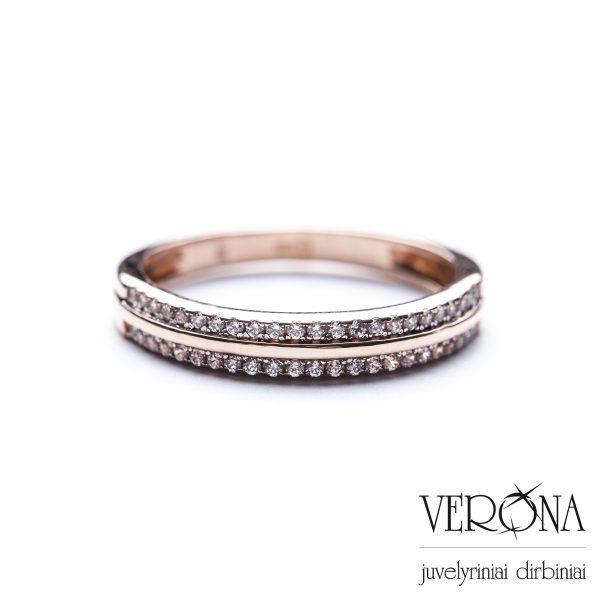 Auksiniai žiedai su cirkoniu 225592