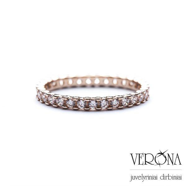 Auksiniai žiedai su cirkoniu 240367
