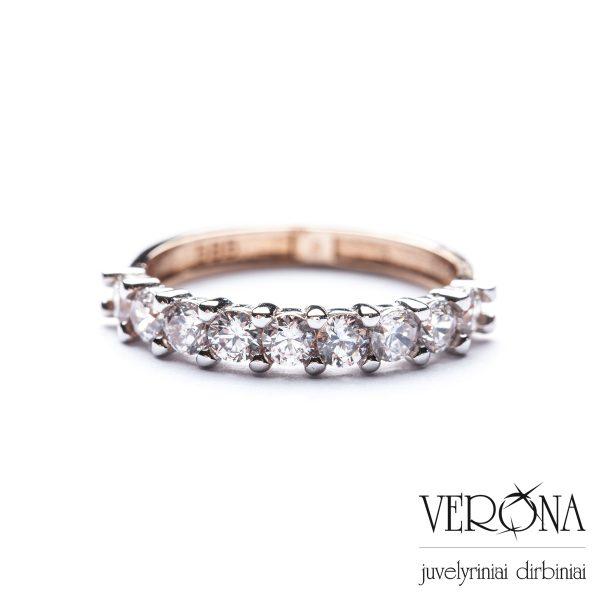 Auksiniai žiedai su cirkoniu 201370
