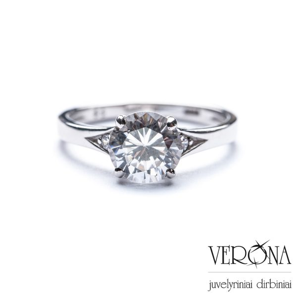Sidabrinis žiedas su cirkoniu 145122