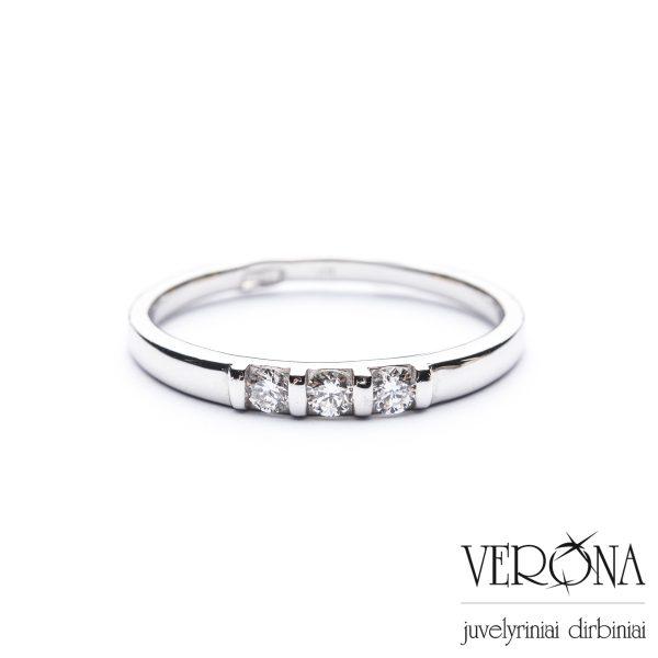 Sužadėtuvių žiedas su briliantu 275521