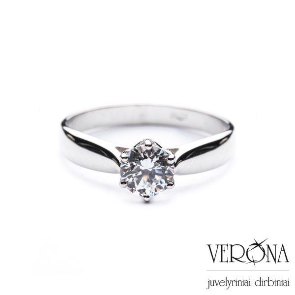 Sužadėtuvių žiedas su cirkoniu 276949