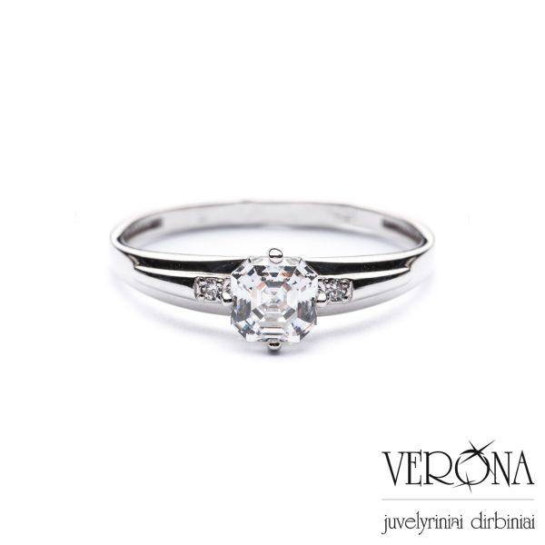 Sužadėtuvių žiedas su cirkoniu 276947